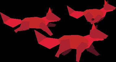 De foxen (team) van RedFoxBlue